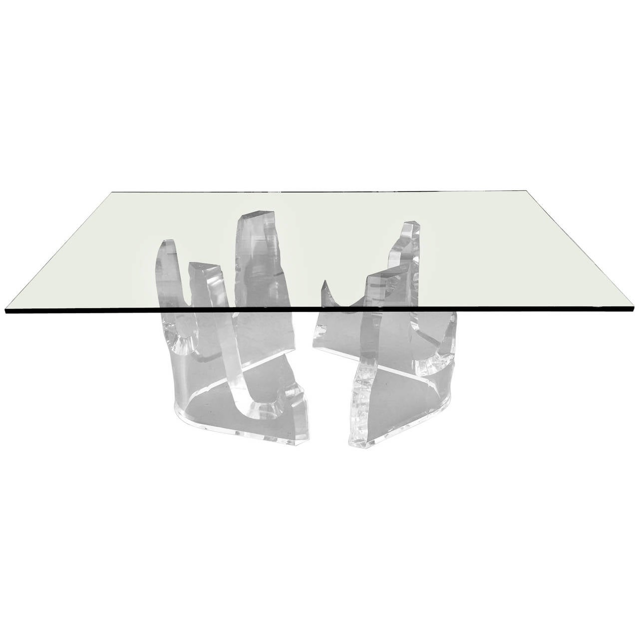 "Lucite 'Iceberg"" Dining Table by Stephen K. Frye for Lion in Frost"