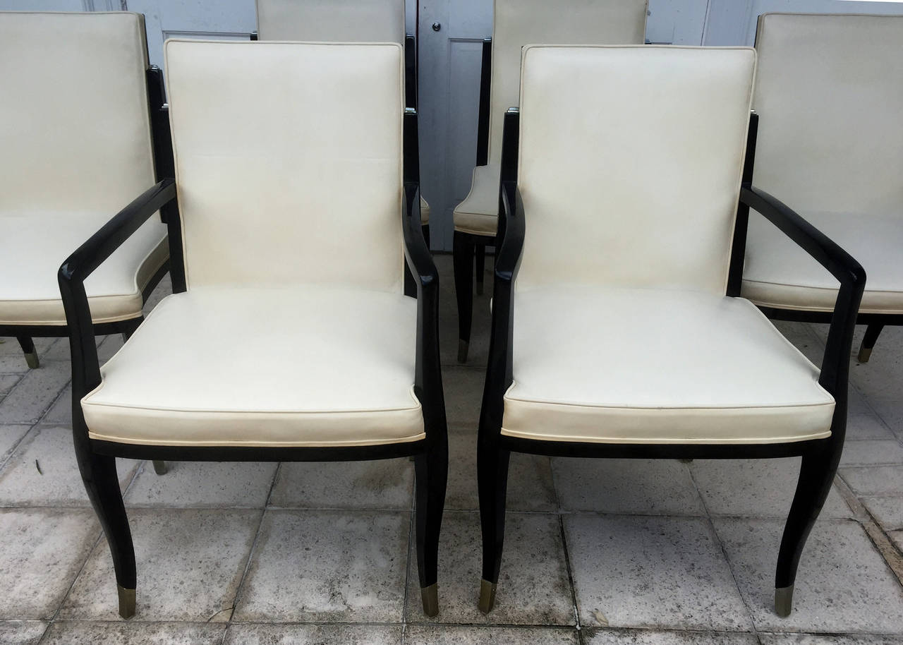A set of six art deco revival chairs by interiors crafts for Art deco furniture chicago