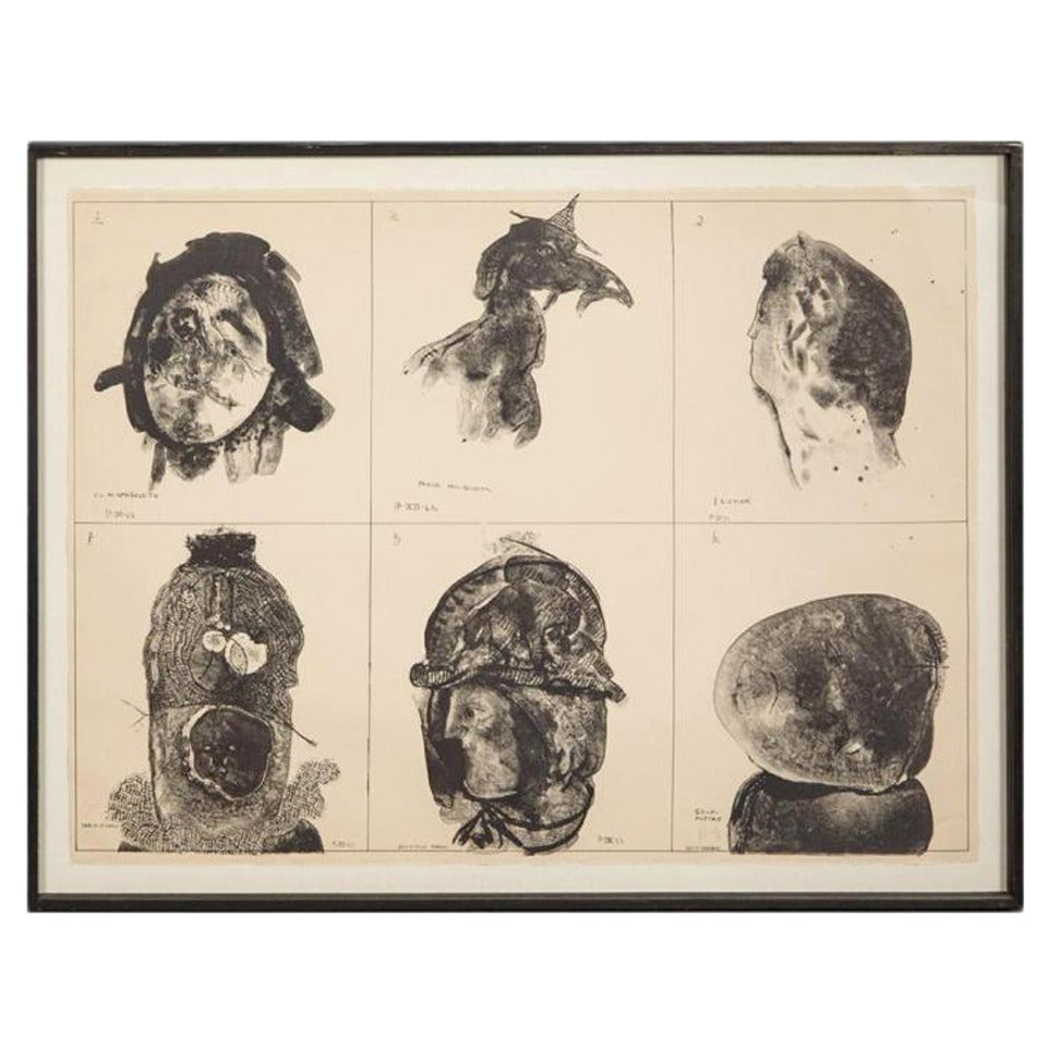 Framed Lithograph by Jose Luis Cuevas Small Edition