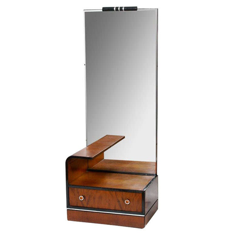 American Streamline Art Deco Vanity With Mirror