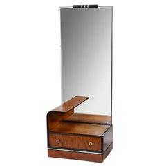 American Streamline Art Deco Vanity With Mirror