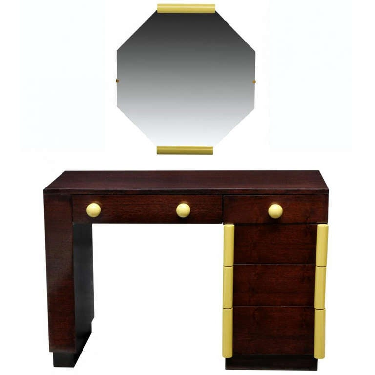 Art Deco Vanity Desk And Mirror Gilbert Rohde for Cavalier For Sale