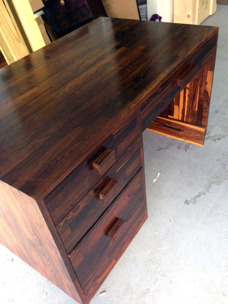 Rare Cocobolo Wood Desk Don Shoemaker For Sale At 1stdibs