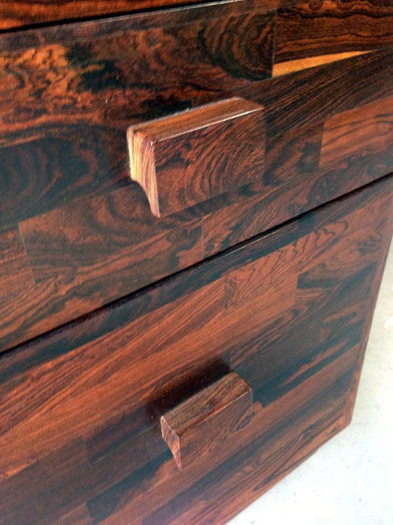 Rare Cocobolo Wood Desk Don Shoemaker At 1stdibs
