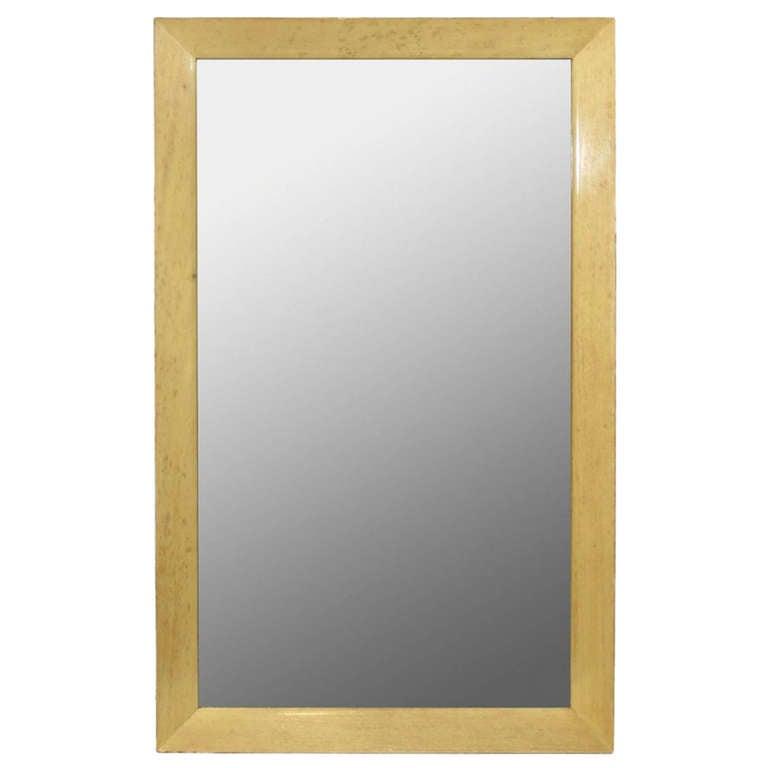 An oak framed wall mirror Paul Frankl for Johnson