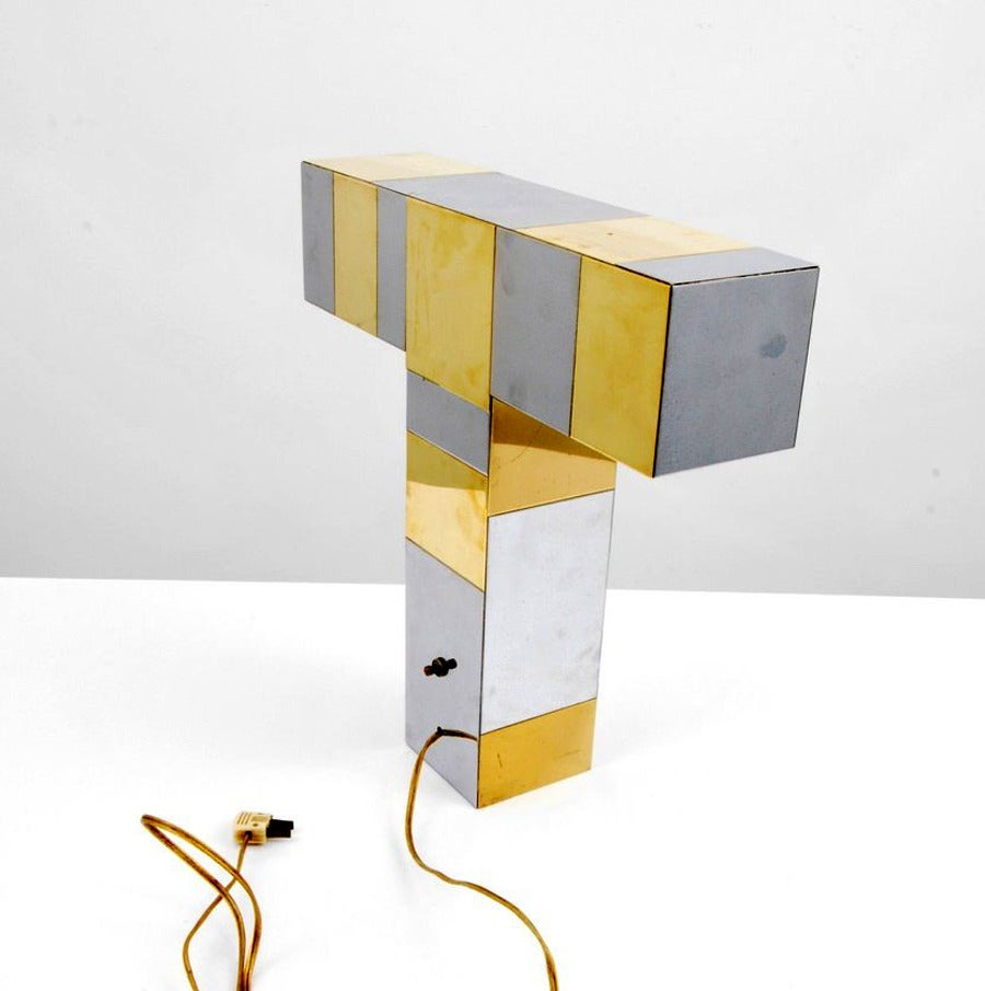 Cityscape Table Lamp Paul Evans For Directional At 1stdibs