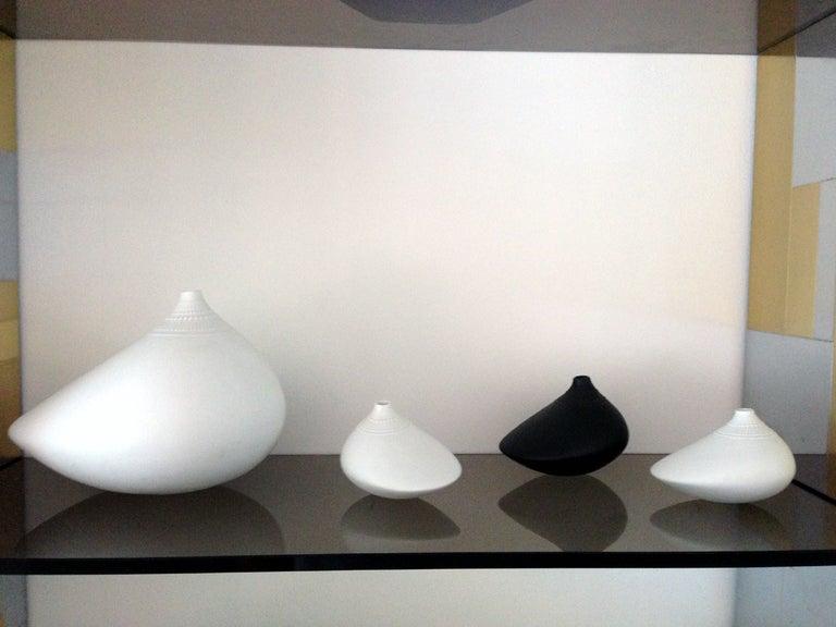 Three Rosenthal Pollo Vases Studio Line Tapio Wirkkala In Excellent Condition For Sale In North Miami, FL