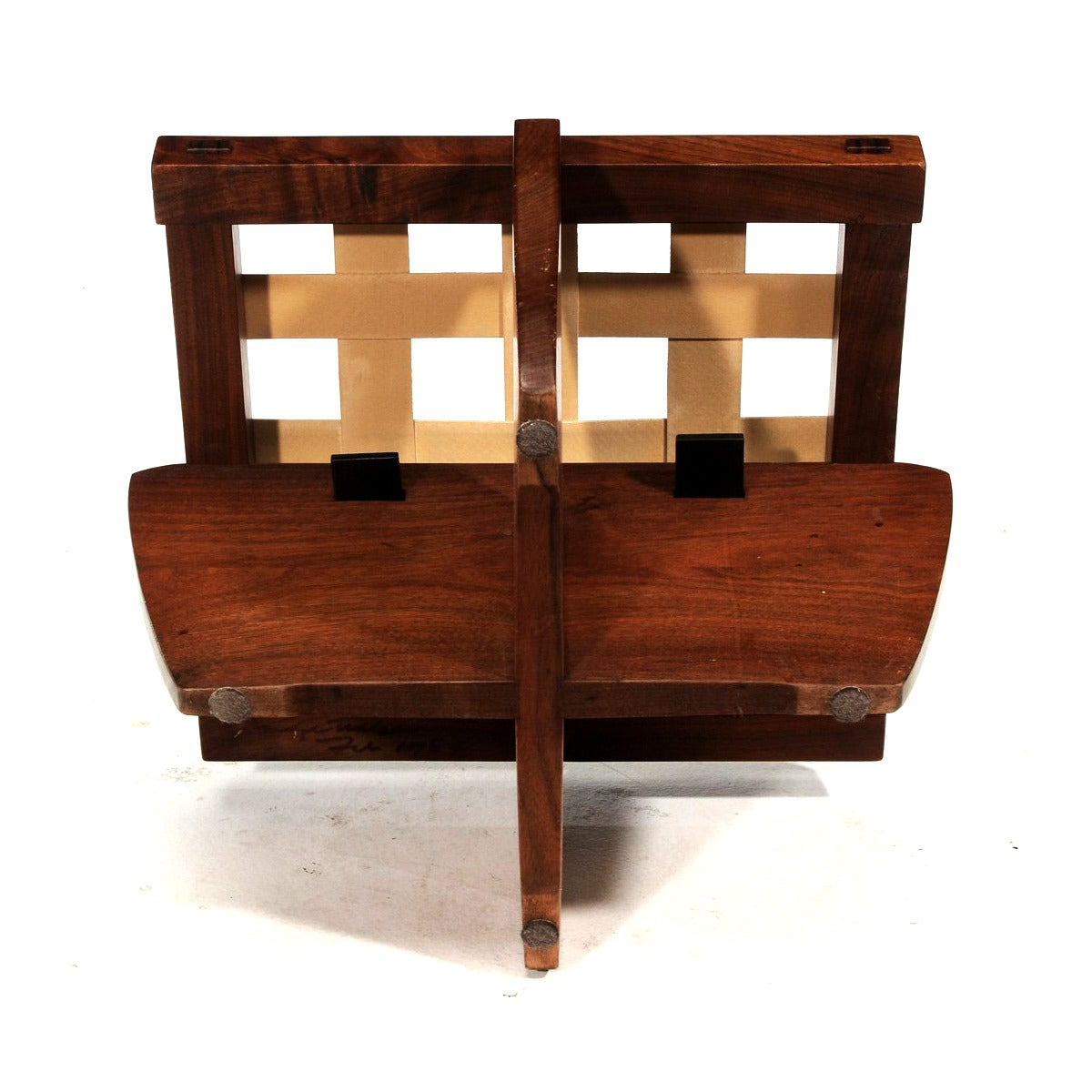 20th Century Walnut Greenrock Stool or Bench with cushion by George Nakashima For Sale