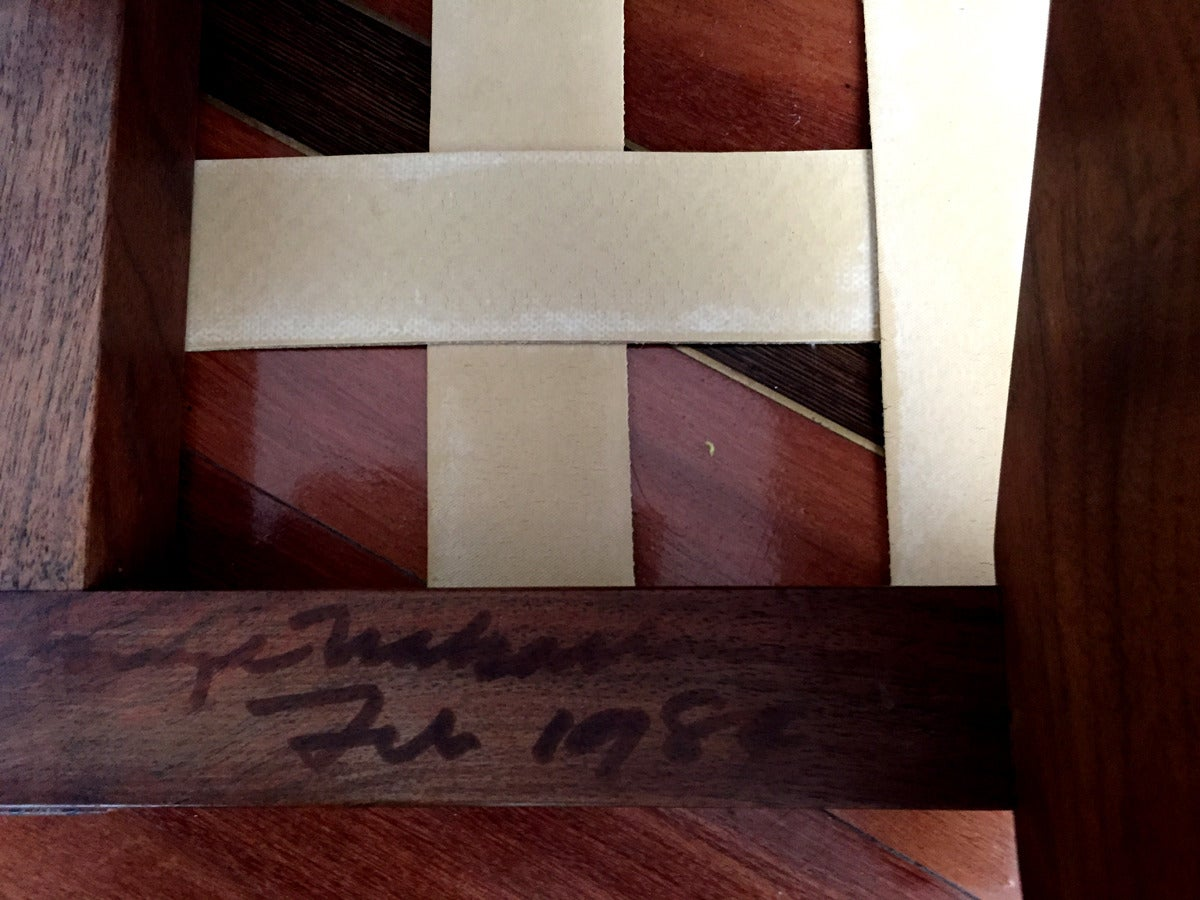 Walnut Greenrock Stool or Bench with cushion by George Nakashima In Excellent Condition For Sale In North Miami, FL