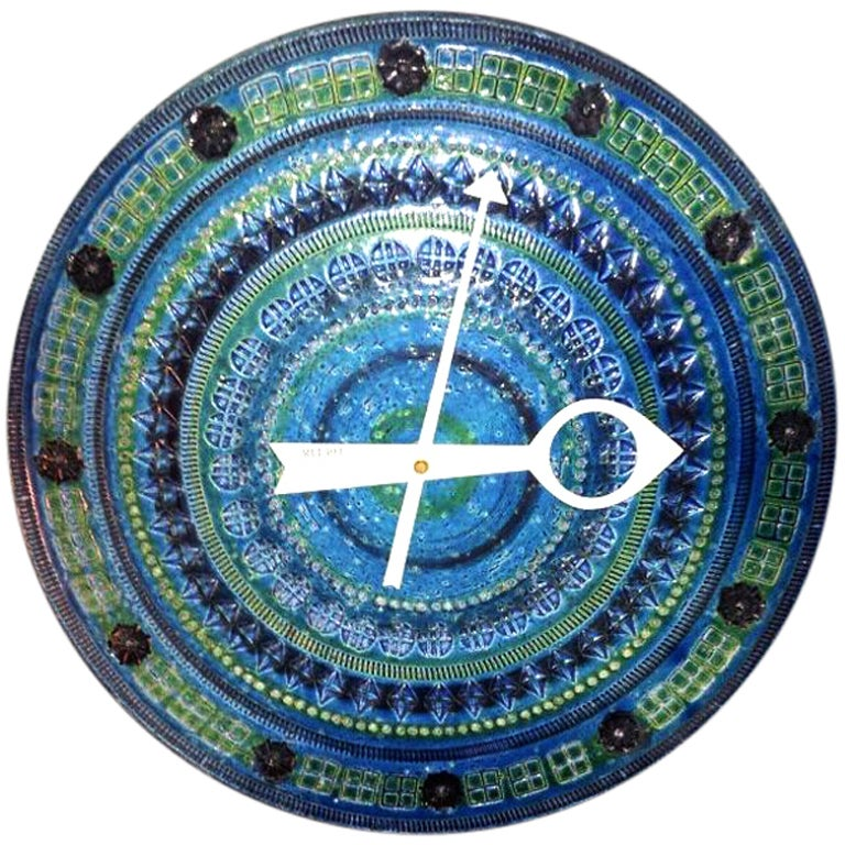 Meridian ceramic wall clock george nelson howard miller at for Nelson wall clock