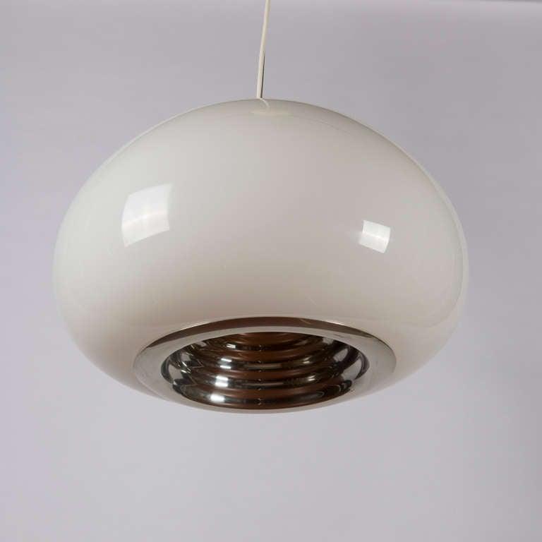 Black and white pendant lamp by castiglioni for flos for for Castiglioni light