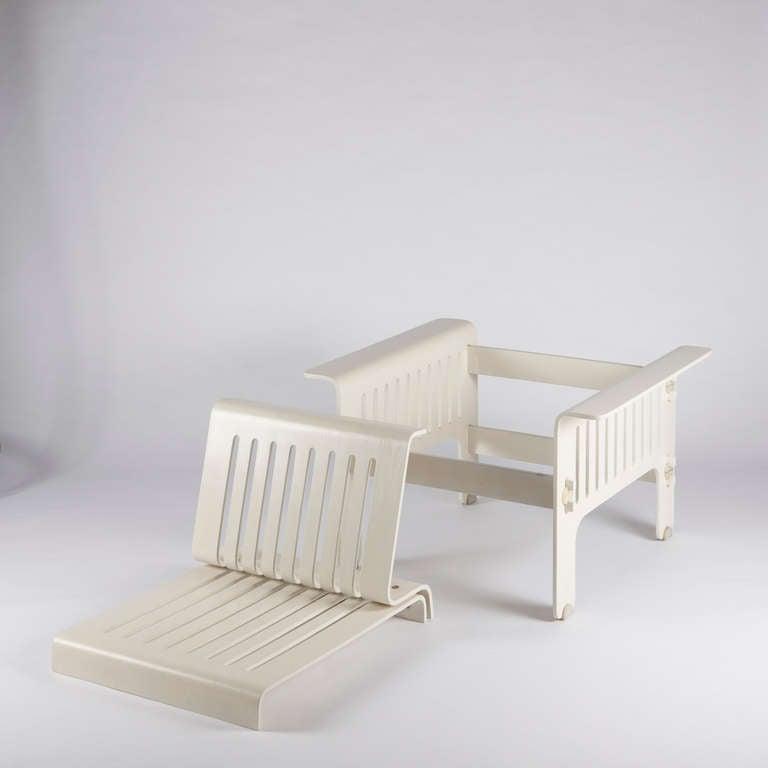 """Impressive """"Triennale"""" Armchairs by Ammannati and Vitelli for Rossi di Albizzate For Sale 1"""