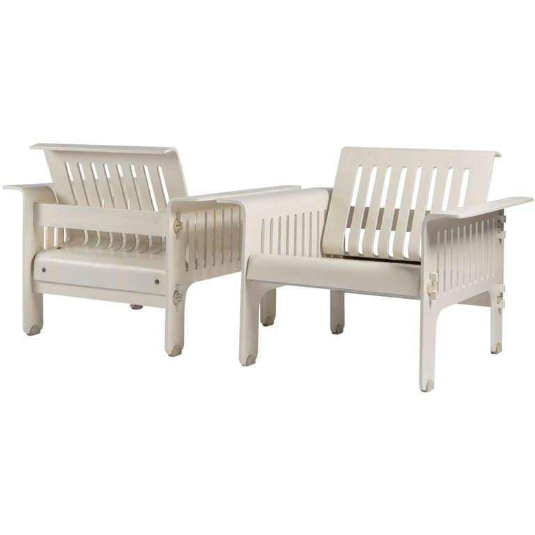 """Impressive """"Triennale"""" Armchairs by Ammannati and Vitelli for Rossi di Albizzate For Sale"""