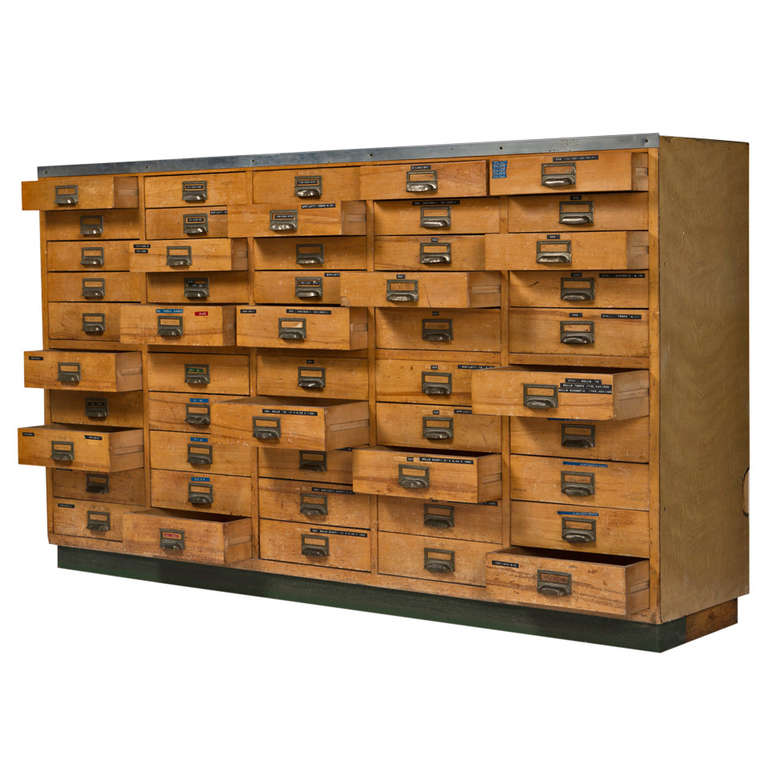 Italian 50u0027s Industrial Chest Of Drawers For Sale