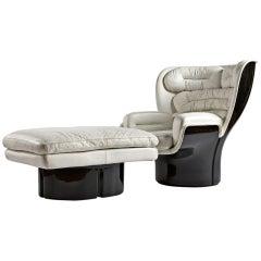 "Scarce ""Elda"" Armchair with Ottoman by Joe Colombo"