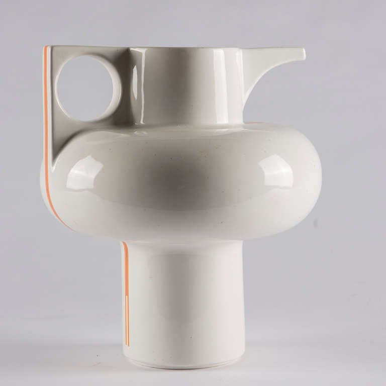 Set of 2 Ceramic Vases by Sergio Asti for Cedit In Excellent Condition For Sale In Milan, IT