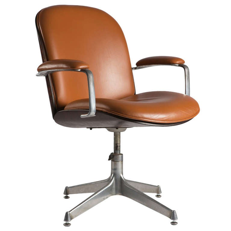 Leather Office Armchair By MIM For Sale At 1stdibs
