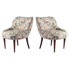 Pair of Italian 1950s Club Chairs