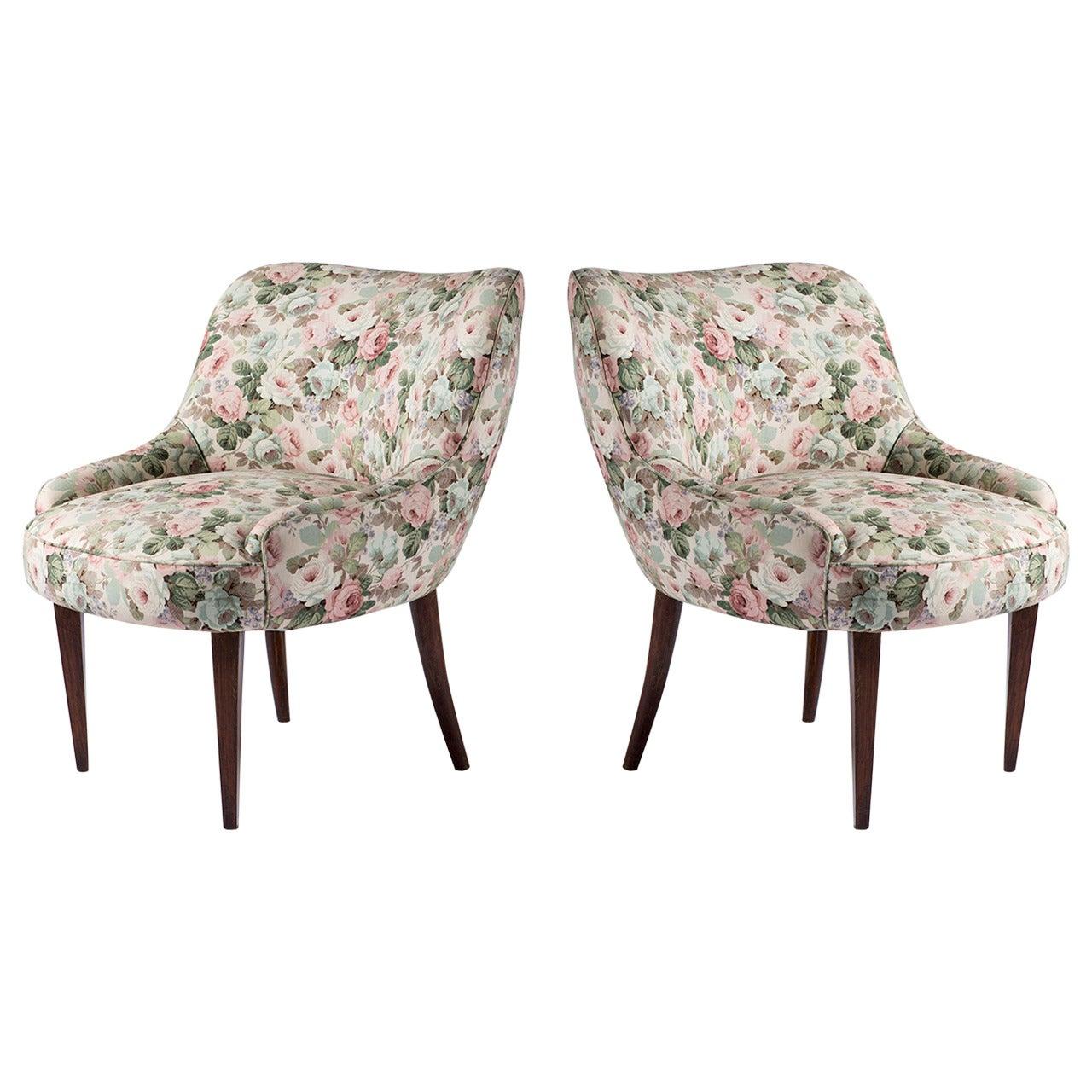 Pair of Italian 1950s Club Chairs