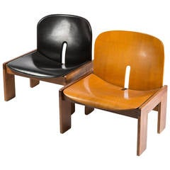 Set of Two Lounge Chairs Model 925 by Scarpa for Cassina