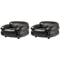 "Pair of ""Sesann"" Armchairs by Gianfranco Frattini for Cassina"