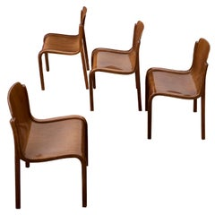 Set of four Bartoli Mito plywood chairs for T70