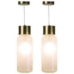 "Pair of ""Bidone"" Pendant Lamps by Luigi Caccia Dominioni for Azucena"