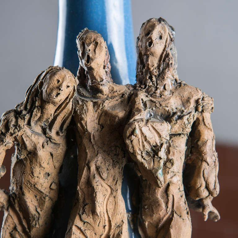 Ceramic Bottle by Renato Bassoli For Sale 1