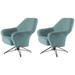 "Pair of ""P32"" Lounge Chairs by Osvaldo Borsani for Tecno"