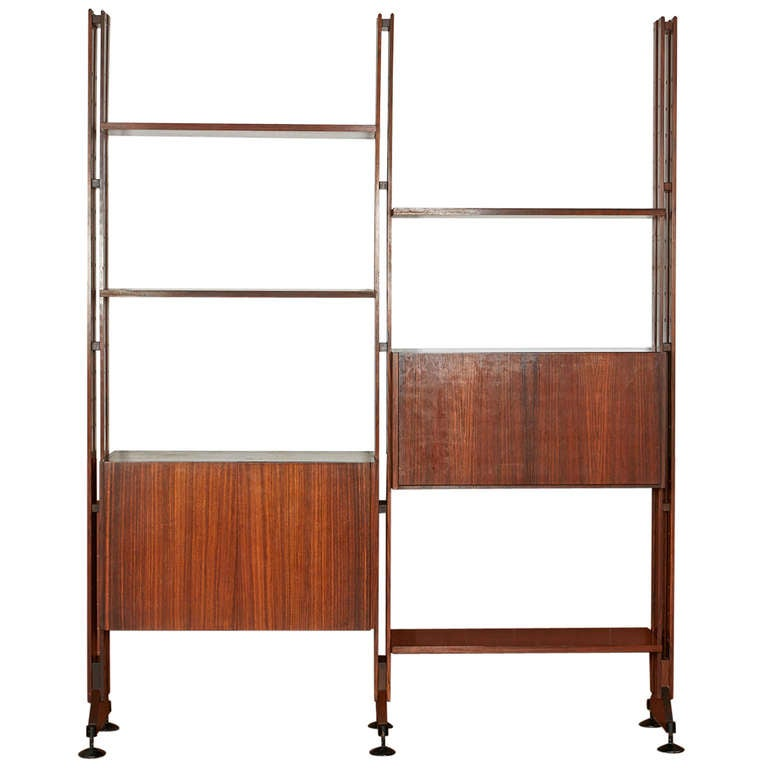 "Free Standing ""Lb10"" Bookshelf by Franco Albini for Poggi"