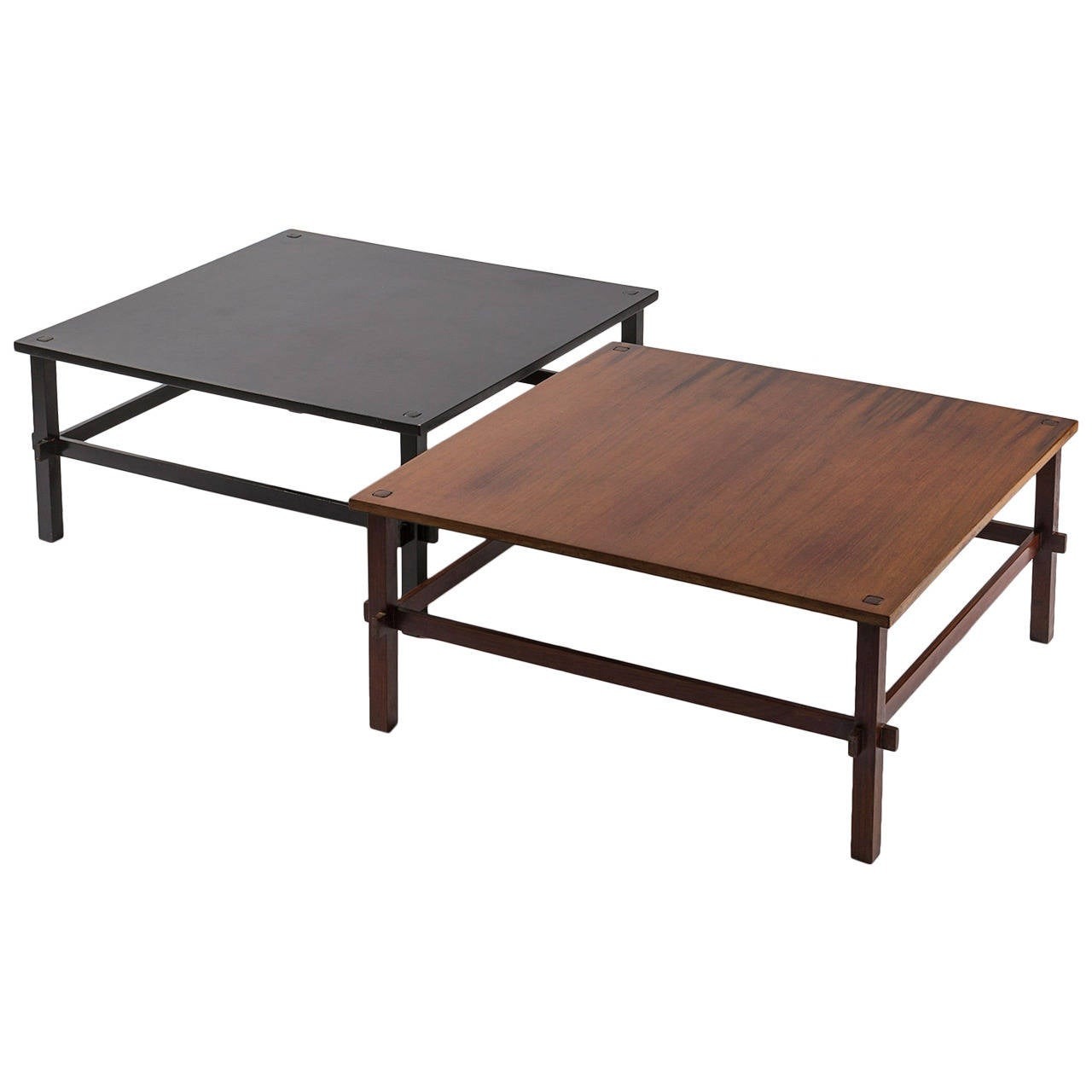 Pair Of Coffee Tables Model 740 By Gianfranco Frattini For Cassina For Sale At 1stdibs