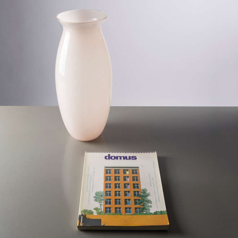 Beautiful Murano Glass Vase by Barbini For Sale 1