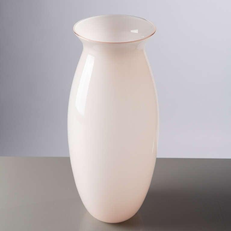 Italian Beautiful Murano Glass Vase by Barbini For Sale
