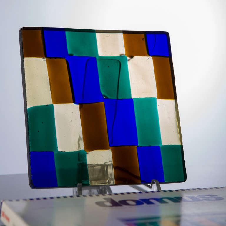 Italian Glass Sculpture by Fulvio Bianconi for Venini For Sale