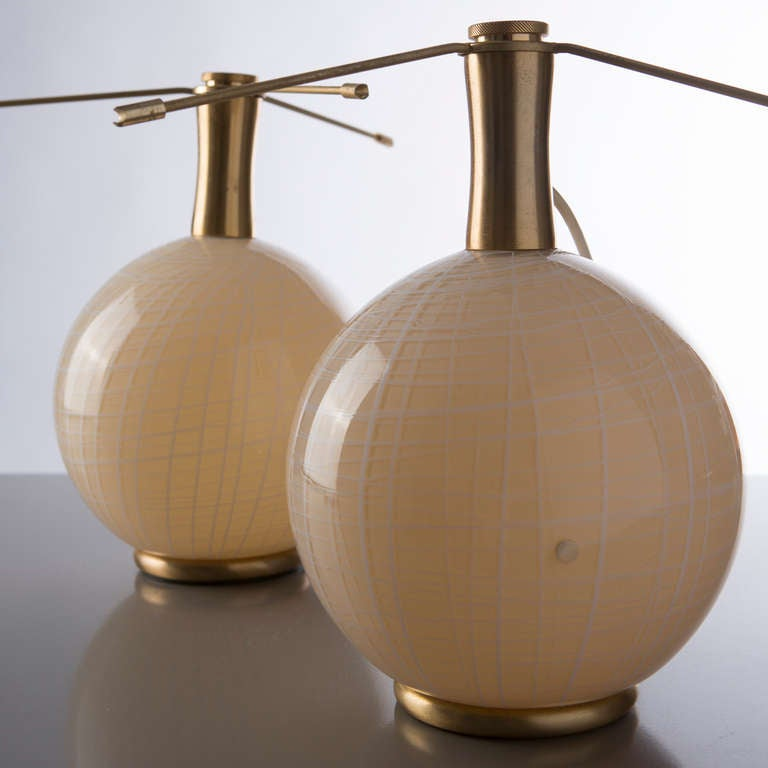 Set Of Two Murano Table Lamps By La Murrina For Sale At