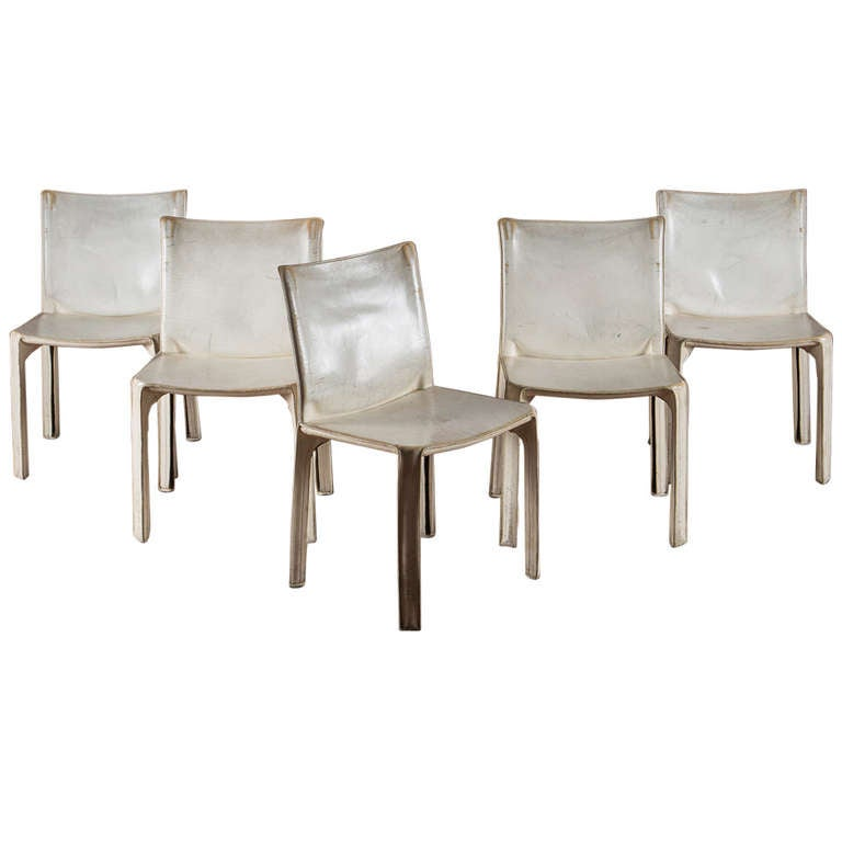 Set Of Five Quot Cab Quot Chairs By Mario Bellini For Cassina At
