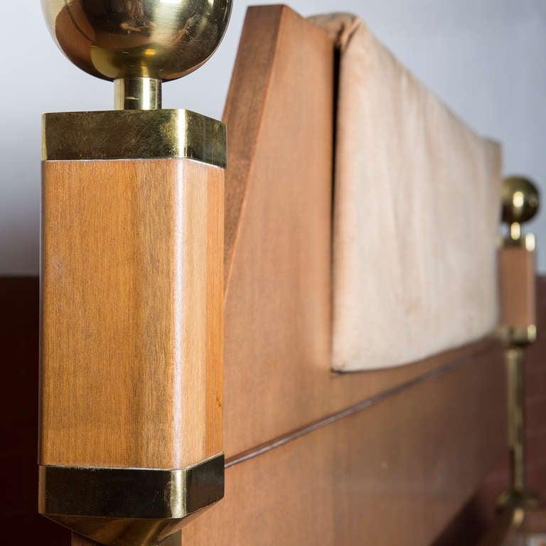Fabric Italian Sixties Kingsize Bed For Sale