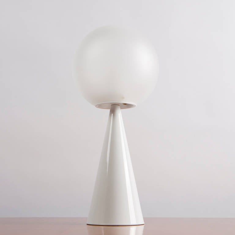 Marvellous Model 2474 Bilia Table Lamp By Gio Ponti For Fontana Arte Frosted