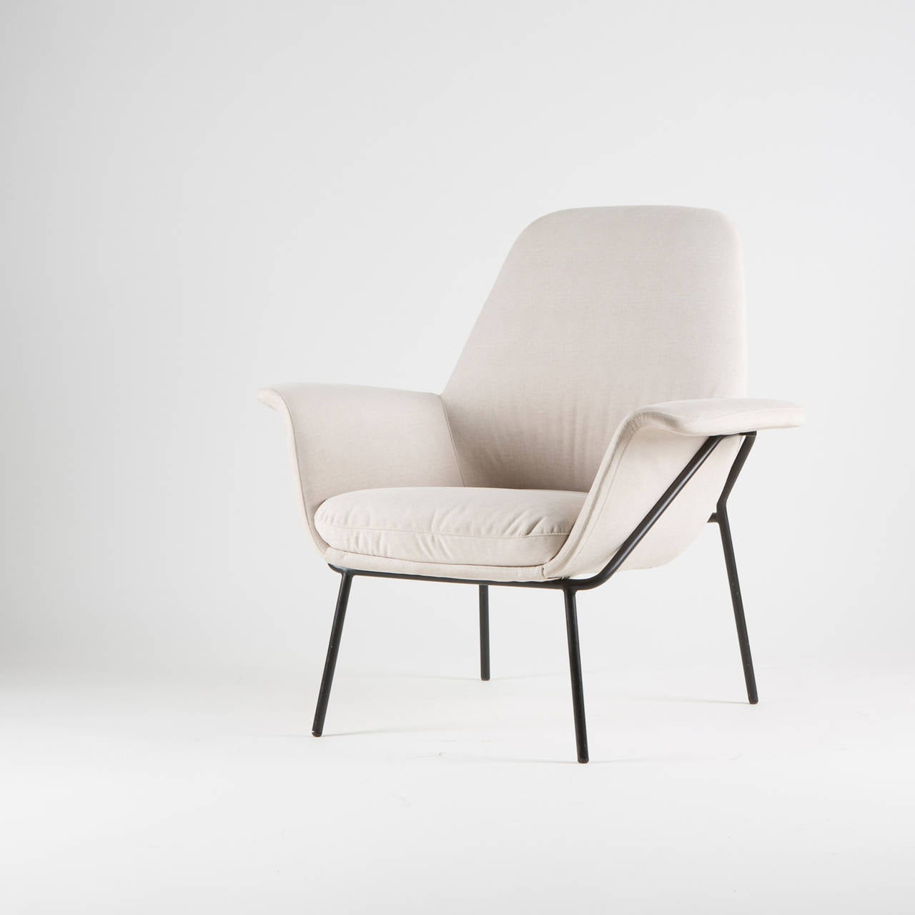 "Mid-20th Century ""Lucania"" Armchair with Ottoman by Giancarlo De Carlo for Arflex For Sale"