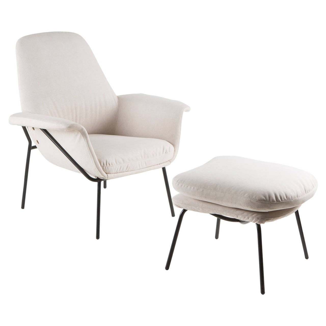 """Lucania"" Armchair with Ottoman by Giancarlo De Carlo for Arflex For Sale"