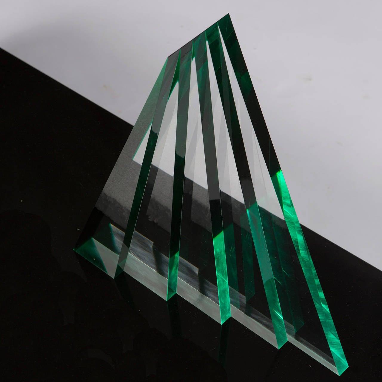 Impressive Plexiglas Sculpture by Luca Bonato for Fusina For Sale 1