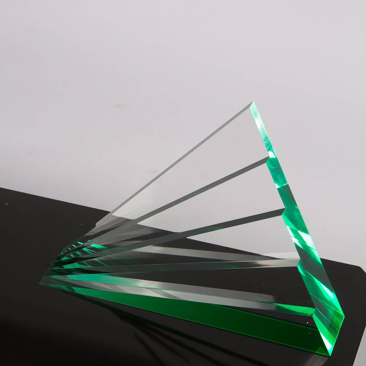 Impressive Plexiglas Sculpture by Luca Bonato for Fusina For Sale 2