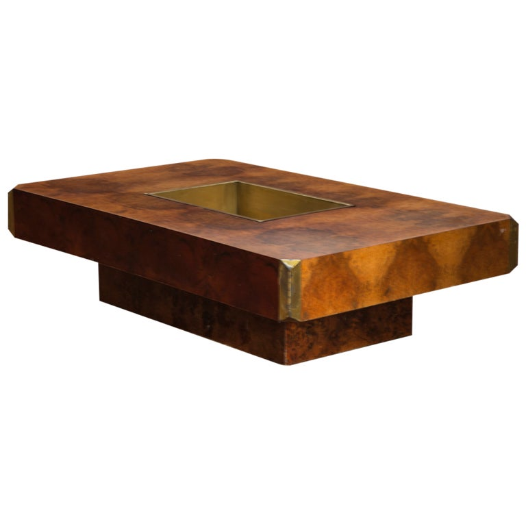 Coffee table by willy rizzo for sabot at 1stdibs for Table willy rizzo