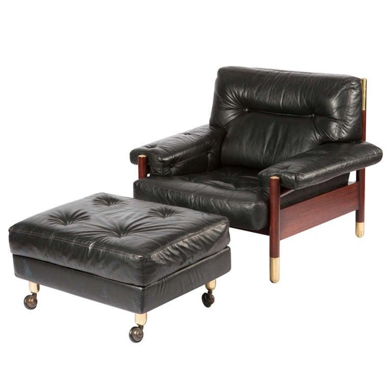 lounge chair with ottoman by carlo de carli for sormani 1