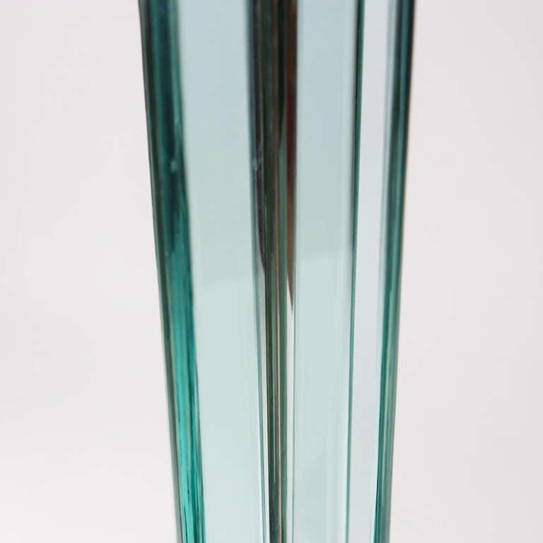 Italian Floor Lamp in the style of Fontana Arte at 1stdibs
