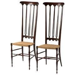 Pair of Italian Chiavari High Back Chairs