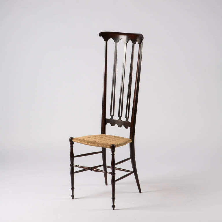 Pair of Italian Chiavari High Back Chairs 5