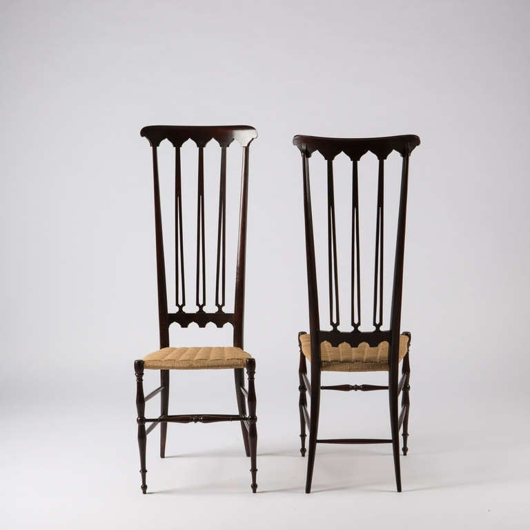 Pair of Italian Chiavari High Back Chairs 4