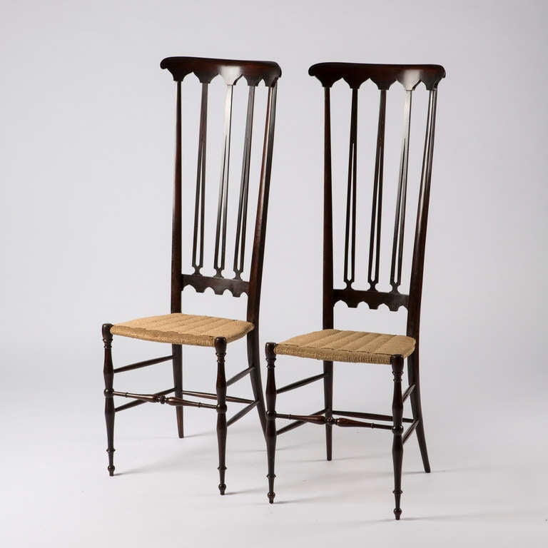 Pair of Italian Chiavari High Back Chairs 2