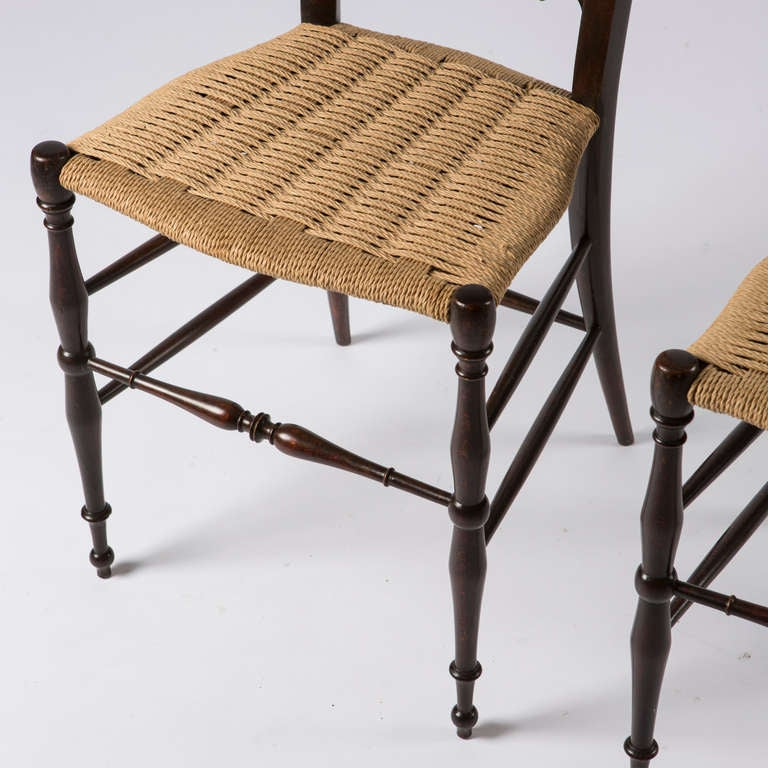Pair of Italian Chiavari High Back Chairs 7
